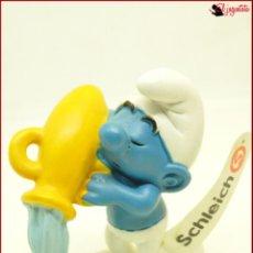 Figuras de Goma y PVC: PIT 55 - PITUFOS SMURFS PEYO - SCHLEICH AM LIMES 69 2009 - PITUFO ACUARIO JARRA. Lote 145280782