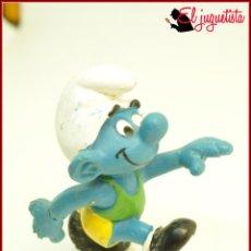 Figuras de Goma y PVC: PIT 60 - PITUFOS SMURFS PEYO - SCHLIECH - PITUFO CORREDOR ATLETA. Lote 145288370