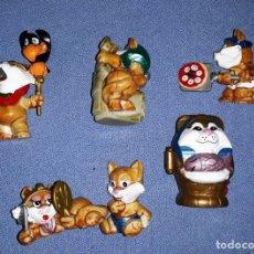 Figuras Kinder: FIGURAS DE LOS HUEVOS KINDER GATOS EGIPCIOS EN MUY BUEN ESTADO ORIGINALES . Lote 145314594