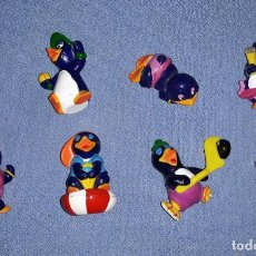 Figuras Kinder: FIGURAS DE LOS HUEVOS KINDER PINGUINOS EN MUY BUEN ESTADO ORIGINALES . Lote 145314726