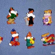 Figuras Kinder: FIGURAS DE LOS HUEVOS KINDER ZORROS EN MUY BUEN ESTADO ORIGINALES . Lote 145316978
