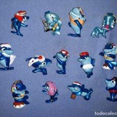 Figuras Kinder: FIGURAS DE LOS HUEVOS KINDER TIBURONES EN MUY BUEN ESTADO ORIGINALES . Lote 145324566