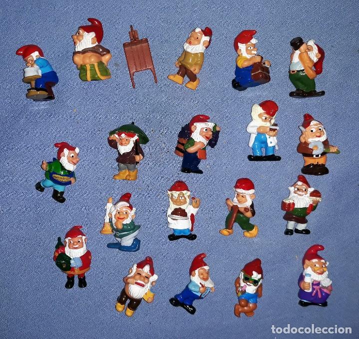 FIGURAS DE LOS HUEVOS KINDER GNOMOS EN MUY BUEN ESTADO ORIGINALES (Juguetes - Figuras de Gomas y Pvc - Kinder)