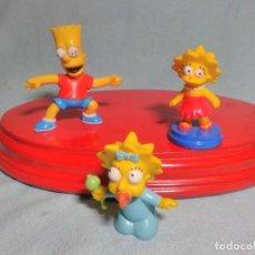 Figuras de Goma y PVC: 3 FIGURAS DE LOS HIJOS SIMPSONS , EN GOMA PVC.. Lote 145340246