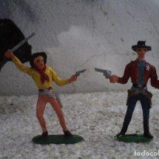 Figuras de Goma y PVC: VAQUEROS DE COMANSI Y JECSAN . Lote 145355674