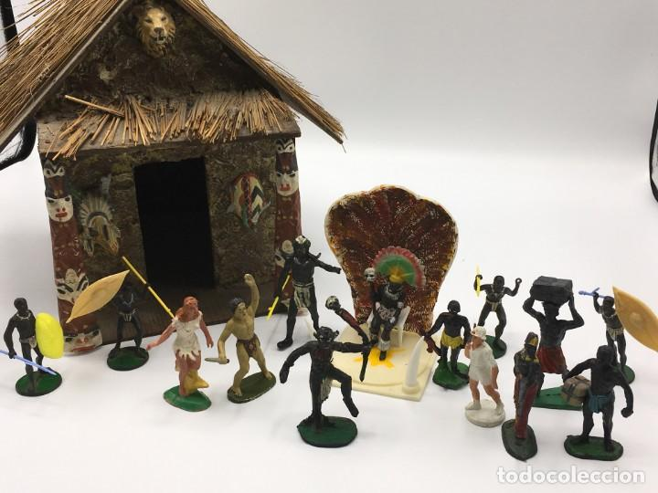 RECEPCION EN POBLADO AFRICANO (Juguetes - Figuras de Goma y Pvc - Jecsan)