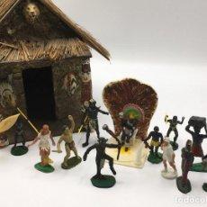 Figuras de Goma y PVC: RECEPCION EN POBLADO AFRICANO. Lote 145395154