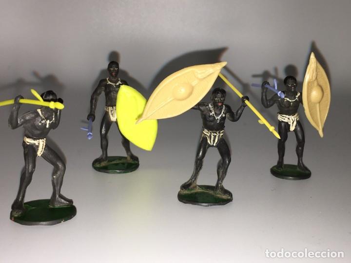 Figuras de Goma y PVC: RECEPCION EN POBLADO AFRICANO - Foto 3 - 145395154