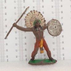 Figuras de Goma y PVC: JEFE INDIO COMANSI. Lote 145395566