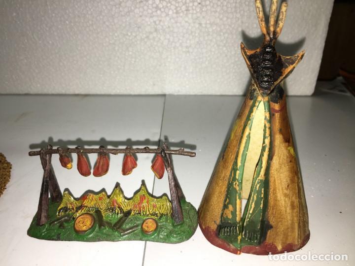 Figuras de Goma y PVC: CAMPAMENTO INDIO - Foto 7 - 145399962
