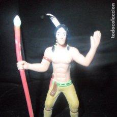 Figuras de Goma y PVC: INDIO - COMANSI MODERNO - INDIOS Y VAQUEROS PVC -. Lote 145508438