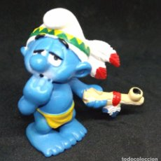 Figuras de Goma y PVC: PITUFO INDIO. Lote 145730994
