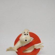 Figuras de Goma y PVC: MUÑECO PVC DEL LOGO DE LOS CAZAFANTASMAS GHOSTBUSTERS AÑOS 80 DIFICIL COMICS SPAIN. Lote 186054392