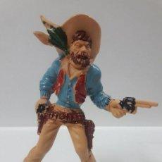 Figuras de Goma y PVC: VAQUERO - COWBOY . REALIZADO POR LAFREDO . AÑOS 60 . ALTURA 9 CM. Lote 145786130