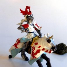 Figuras de Goma y PVC: GUERRERO CABALLERO MEDIEVAL DE LA MARCA PLASTOY - MUY BUEN ESTADO. ORIGINAL.. Lote 145794978