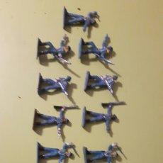 Figuras de Goma y PVC: LOTE DE 13 SOLDADOS YANKES COMANSI A PIE MINI OESTE DE COMANSI. Lote 145838493