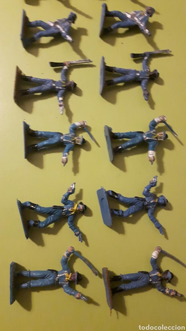 Figuras de Goma y PVC: Lote de 13 Soldados Yankes Comansi a pie Mini Oeste de Comansi - Foto 3 - 145838493