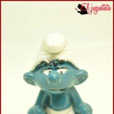 Figuras de Goma y PVC: PIT 68 - PITUFOS SMURFS PEYO - SCHLEICH W, BERRIE CO HONG KONG 1983 - PITUFO ENFADADO GRUÑON. Lote 145883706