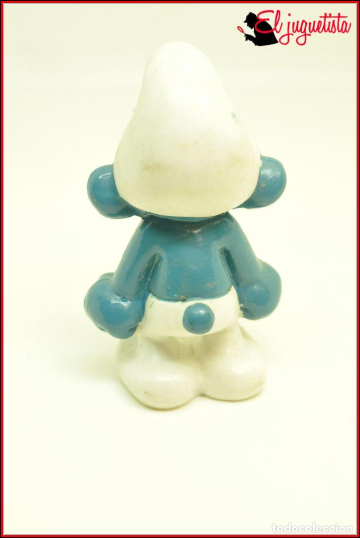 Figuras de Goma y PVC: PIT 68 - PITUFOS SMURFS PEYO - SCHLEICH W, BERRIE CO HONG KONG 1983 - PITUFO ENFADADO GRUÑON - Foto 3 - 145883706