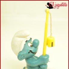 Figuras de Goma y PVC: PIT 69 - PITUFOS SMURFS PEYO - SCHLEICH GERMANY - PITUFO PESCADOR PESCAR. Lote 145884194