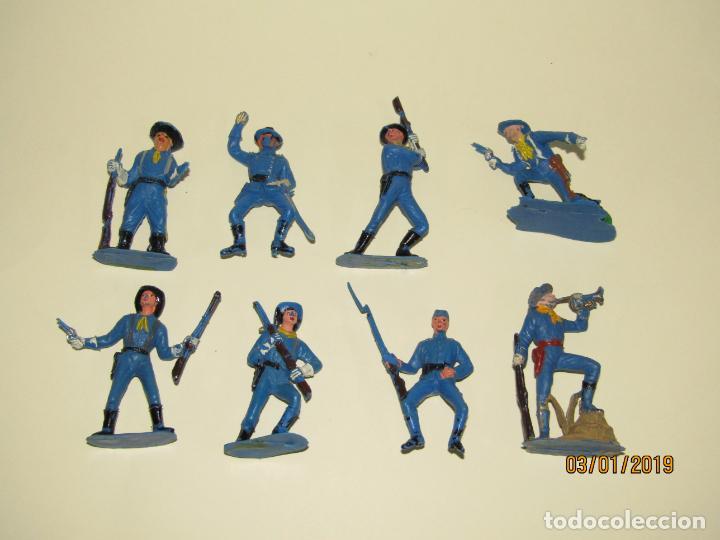 ANTIGUO CONJUNTO YANKEES EN PLÁSTICO PINTADO DE JECSAN - TIPO COMANSI REAMSA PECH (Juguetes - Figuras de Goma y Pvc - Jecsan)