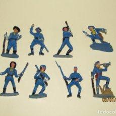 Figuras de Goma y PVC: ANTIGUO CONJUNTO YANKEES EN PLÁSTICO PINTADO DE JECSAN - TIPO COMANSI REAMSA PECH. Lote 145931922