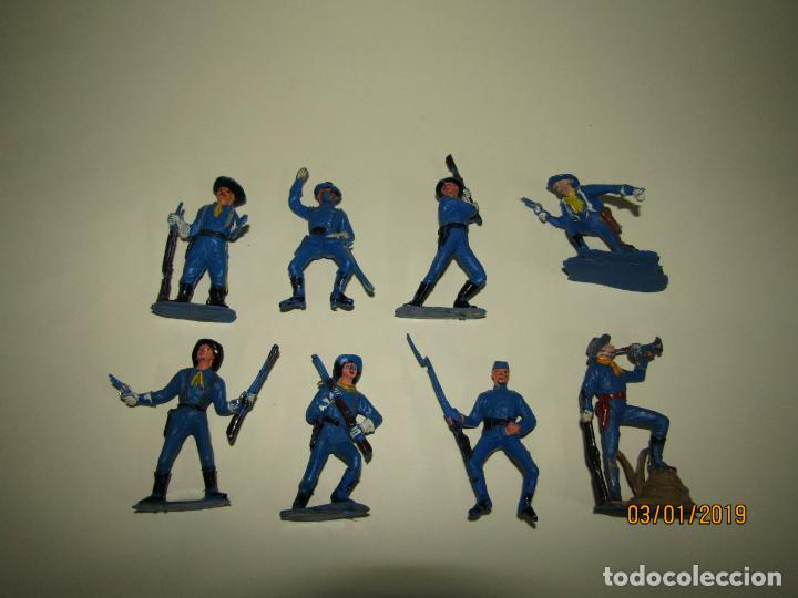 Figuras de Goma y PVC: Antiguo Conjunto YANKEES en Plástico Pintado de JECSAN - Tipo Comansi Reamsa Pech - Foto 3 - 145931922