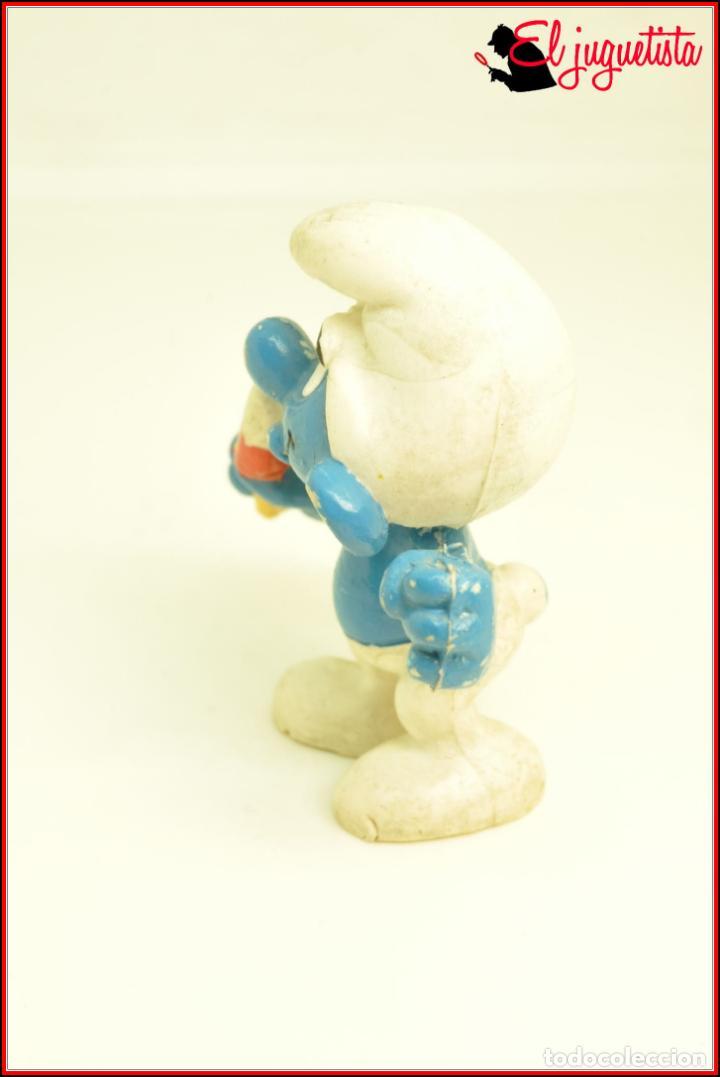 Figuras de Goma y PVC: PIT 91 - PITUFOS SMURFS PEYO - SCHLEICH MINIMODELS ARGENTINA - PITUFO HELADO POLO - Foto 3 - 145948426