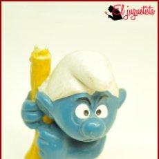 Figuras de Goma y PVC: PIT 88 - PITUFOS SMURFS PEYO - SCHLEICH W GERMANY - PITUFO CON SETA. Lote 145951818