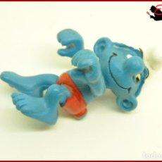Figuras de Goma y PVC: PIT 97 - PITUFOS SMURFS PEYO - SCHLEICH W GERMANY 1980 - PITUFO WINDSURFISTA WINDSURF SURF. Lote 145953930