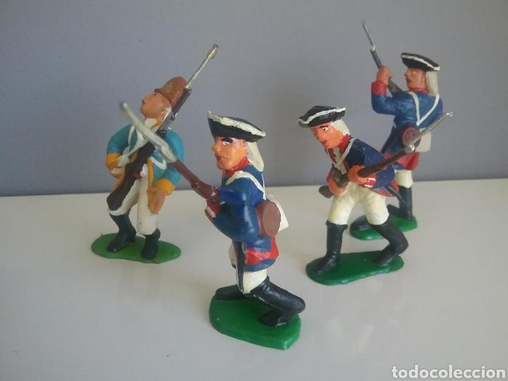 Figuras de Goma y PVC: Guerra revolución independencia americana,BMC soldados británicos,americanos y francés esc. britains - Foto 5 - 118255502