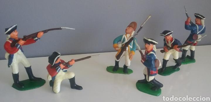Figuras de Goma y PVC: Guerra revolución independencia americana,BMC soldados británicos,americanos y francés esc. britains - Foto 3 - 118255502