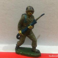 Figuras de Goma y PVC: FIGURA EN GOMA GAMA EL SOLDADO DESMONTABLE REAMSA PECH. Lote 146126470