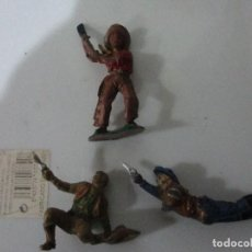 Figuras de Goma y PVC: LOTE VAQUEROS PECH GOMA. Lote 146442046