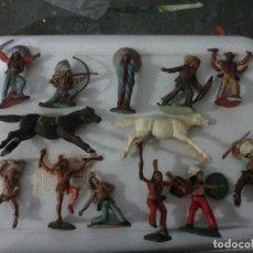 Figuras de Goma y PVC: LOTE FIGURAS REAMSA INDIOS. Lote 146443446