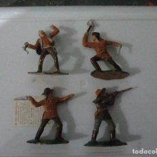 Figuras de Goma y PVC: LOTE FIGURAS REAMSA VAQUEROS INDIOS CANADA. Lote 146444270