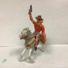 Figuras de Goma y PVC: FIGURA VAQUERO COMANSI PRIMERA EPOCA WESTERN COWBOY LADRON CON CABALLO . Lote 146459886