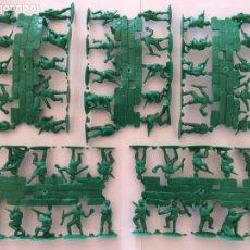 Figuras de Goma y PVC: MONTAPLEX LOTE DE 5 COLADAS DE AMERICANOS VERDES. Lote 183833856