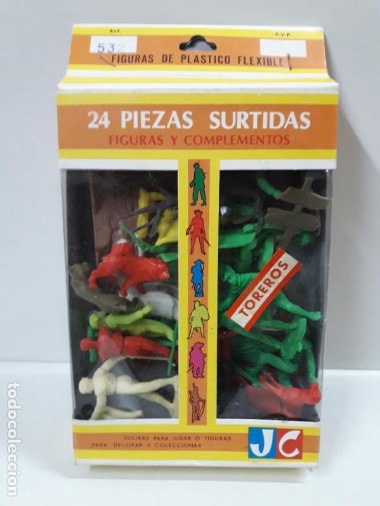 CAJA DE TOREROS - REF 532 . REALIZADA POR JECSAN . AÑOS 60 / 70 (Juguetes - Figuras de Goma y Pvc - Jecsan)