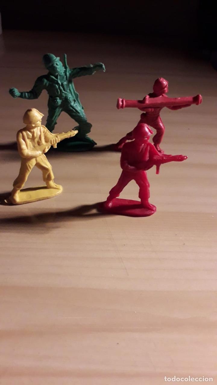 Figuras de Goma y PVC: LOTE 4 SOLDADOS PIPERO - Foto 2 - 146615024