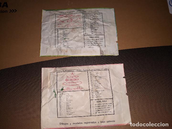 Figuras de Goma y PVC: MONTAPLEX- LOTE DE 2 SOBRES CERRADOS SERIE 600- SIKORSKY H34A + HIDROAVION-AÑOS 70 - Foto 2 - 146698974