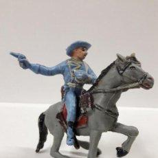 Figuras de Goma y PVC: SOLDADO FEDERAL YANKEE A CABALLO . REALIZADO POR PECH . AÑOS 60. Lote 146727434