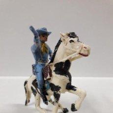 Figuras de Goma y PVC: SOLDADO FEDERAL YANKEE A CABALLO . REALIZADO POR PECH . AÑOS 60. Lote 146727526