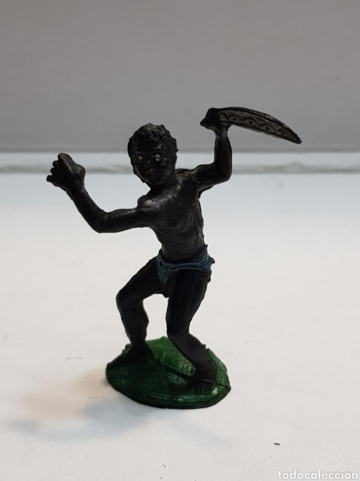 LAFREDO ÁFRICA MISTERIOSA INDÍGENA CON MACHETE EN GOMA ESCASO (Juguetes - Figuras de Goma y Pvc - Lafredo)