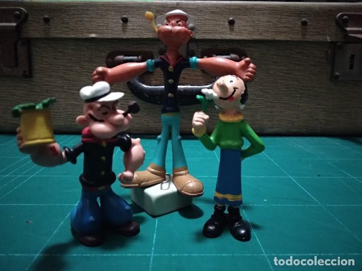 LOTE DE 3 FIGURAS ANTIGUAS DE GOMA O PVC. POPEYE. COMICS SPAIN. AÑOS 80 (Juguetes - Figuras de Goma y Pvc - Comics Spain)