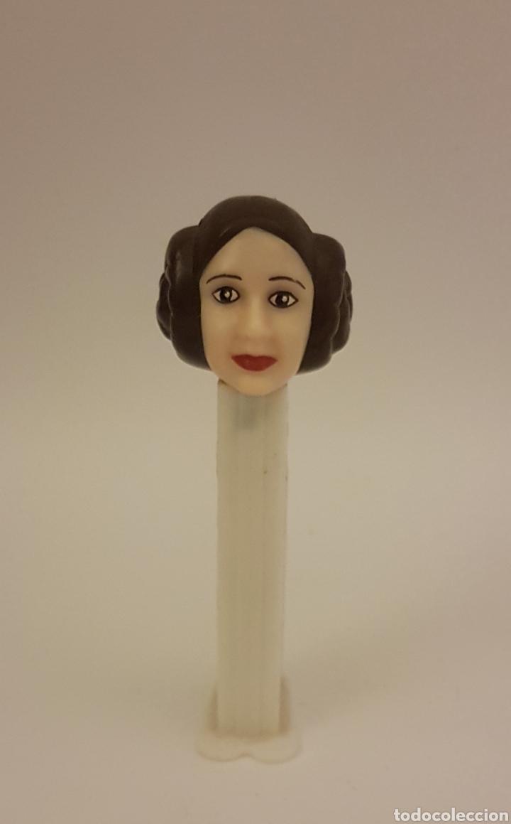 Dispensador Pez: Dispensador Pez. Antiguo de colección. Princesa Leia. Star Wars - Foto 2 - 146954606