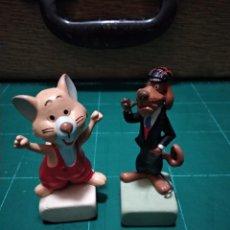 Figuras de Goma y PVC: LOTE DE 2 FIGURAS ANTIGUAS SERIE WILLY FOG. TICO E INSPECTOR DIX. MAIA BORGES. PORTUGAL.AÑOS 80. Lote 146988182