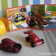 Figuras Kinder: KINDER SPRINTY CARRERA DE AUTOS AUTO ROJO EN027. Lote 147025710