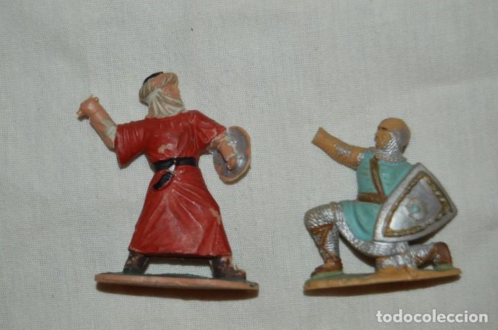 LOTE SOLDADO MEDIEVAL CRISTIANO 167, SERIE REY ARTURO Y GUERRERO MORO 297, SERIE EL CID - REAMSA (Juguetes - Figuras de Goma y Pvc - Reamsa y Gomarsa)