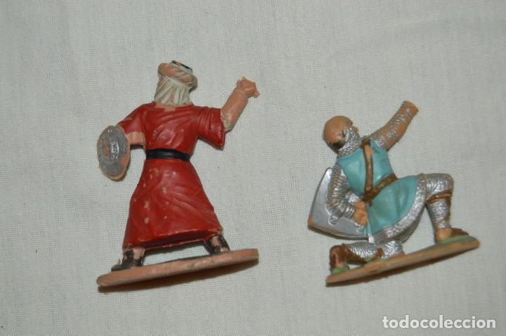 Figuras de Goma y PVC: LOTE SOLDADO MEDIEVAL CRISTIANO 167, SERIE REY ARTURO Y GUERRERO MORO 297, SERIE EL CID - REAMSA - Foto 2 - 147061330